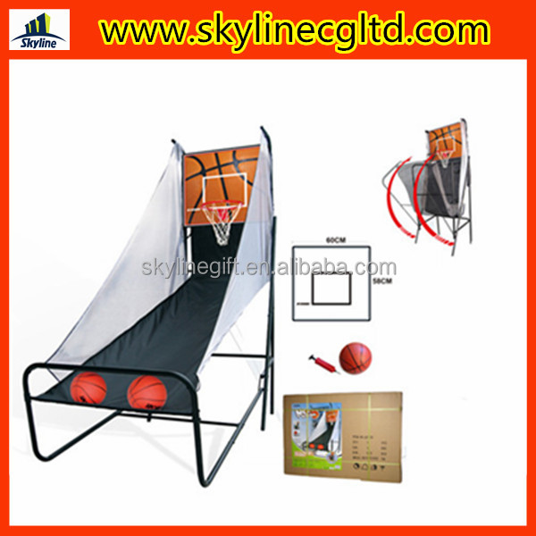 Foldable Rapid shoot basketball stand with electronic score