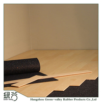 High quality soundproof cheap laminate flooring rubber foam cork underlayment