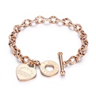 MECYLIFE Christian Jewelry Religious Bracelet Jesus Bible Engraving Heart Charms Rose Gold Bracelet