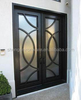 Sen D078 Moderne Schmiedeeisen Front Eingangstur Buy Schmiedeeisen Vor Haustur Rustikale Schmiedeeiserne Turen Schmiedeeisen Terrassenturen Product