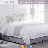 LinenPro factory price plain cotton hotel bed sheet set,white bed sheets hotels,hotel color bed white sheet
