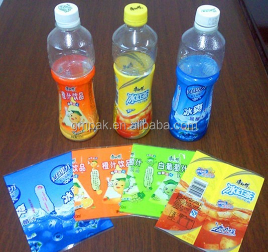 PVC/PET Botol Shrink Wrap Lengan/Label Label Botol Air Mineral Aquafina Splash