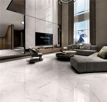 600x1200 Calacatta Marble Look White Porcelain Floor Tiles Bathroom Tile Matt Product On
