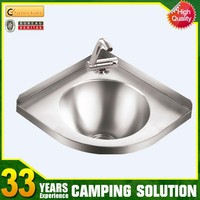 Stainless Steel Corner Sink with Drainerboard Suppliers