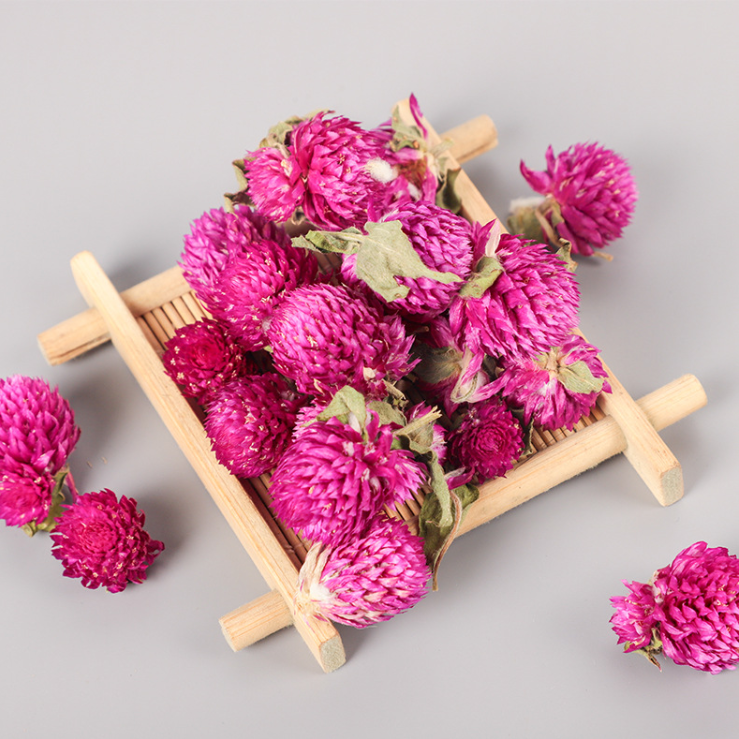 Qian Ri Hong 100% Natural Sulfur Free Dried Gomphrena Globosa/Globe Amaranth/Makhmali/Vadamalli Flower Tea - 4uTea   4uTea.com