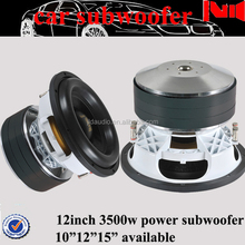 JLD audio DC 12V car subwoofer speaker with aluminium basket for consumer electronics used car subwoofer