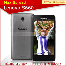 Chinese famous brand Lenovo S660 MTK6582 Quad Core Android 4.2 telephone cell phone high quality top 10 mobile