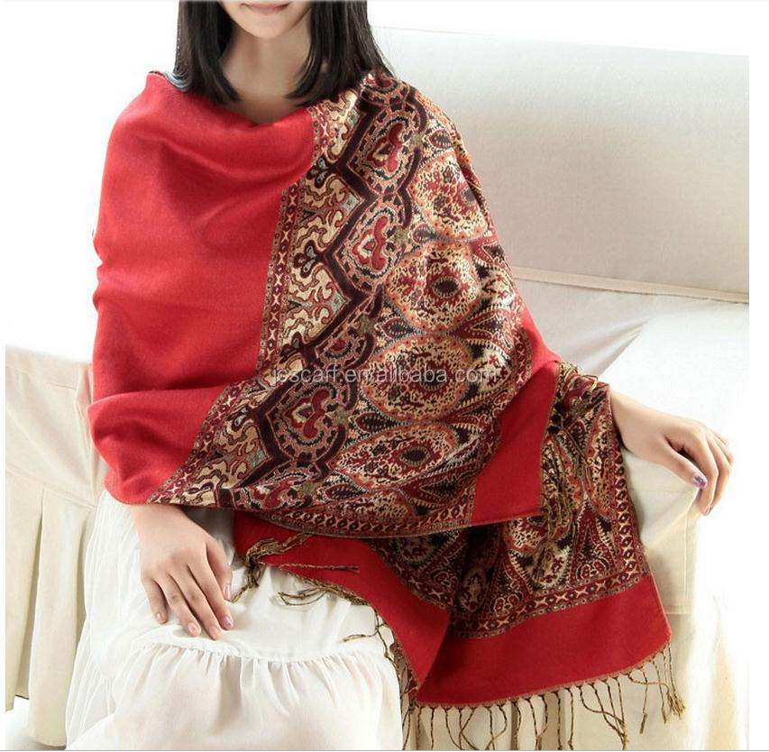 2017 pashmina shawl nepal with tassel wholesale