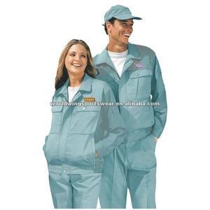 Industrial staff polyester cotton workwear uniform