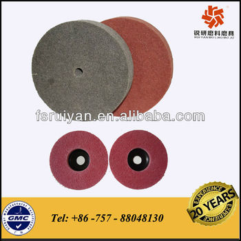 high quality non woven polishing wheel for stainless steel