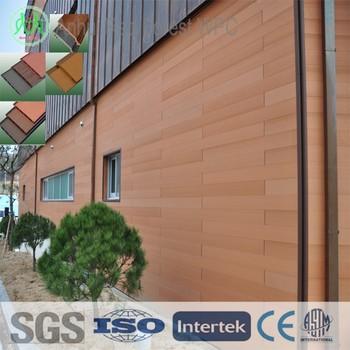 Wpc parement en bois étanche mur panneaux bois plastique composite extérieur bois revêtement mural