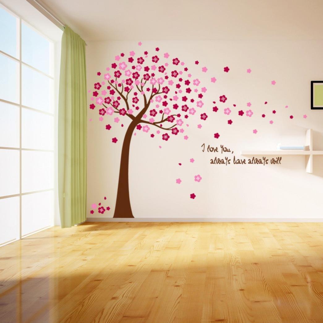 Rumas Sakura Flower Cherry Blossom Tree Removable Wall Sticker Room Decals