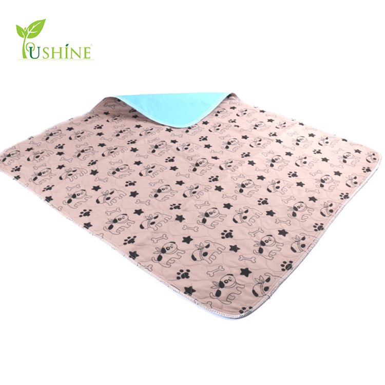 100% Polyester Imprimé Chiot Pet Training Pads Lavable Pipi Tampons Absorbants lavable tampons Pee 2018