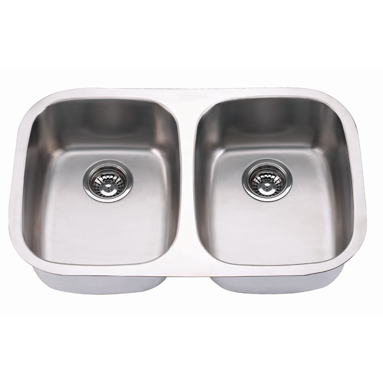 Small Durable double bowl handmade stainless steel kitchen sinks