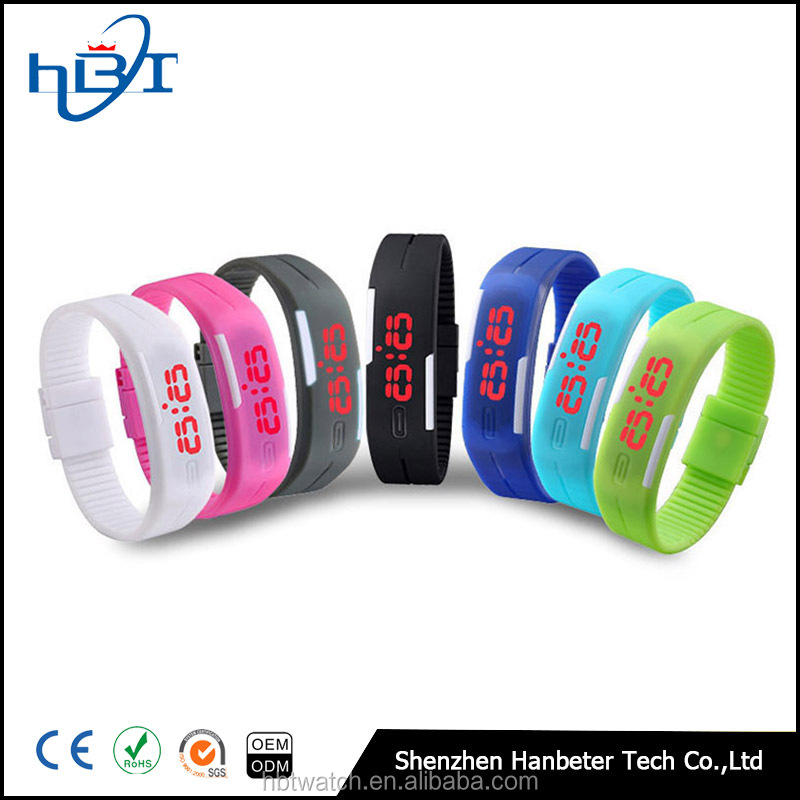 Cheap Touch screen digital silicone sport led watch for gift