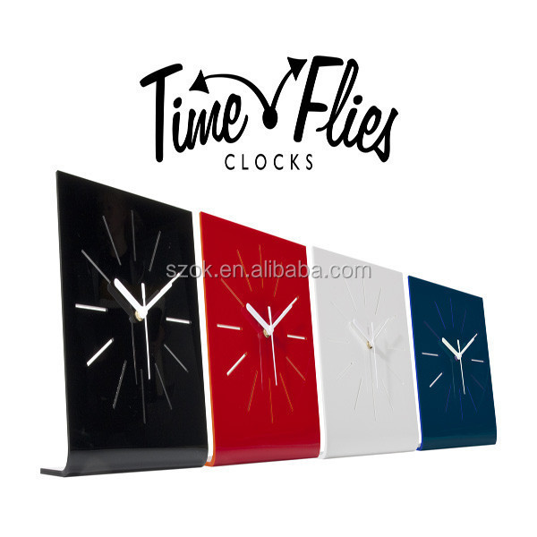 Unique design flying bird shape acrylic clock