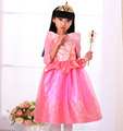 Autumn summer Christmas Princess Dress Children Baby Girls Party princess with flower fully sleeve lace tutu