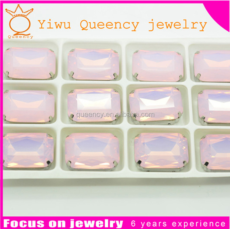 quartz crystal stone glass stone with high hardness for jewelry