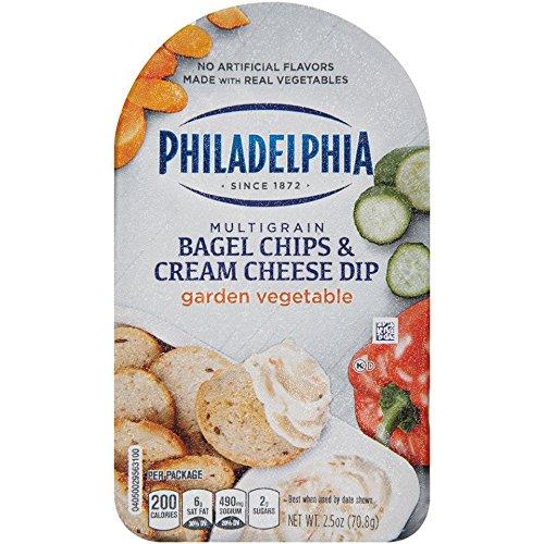 Philadelphia Multigrain Bagel Chips & Garden Vegetable Cream Cheese Dip, 2.5 oz