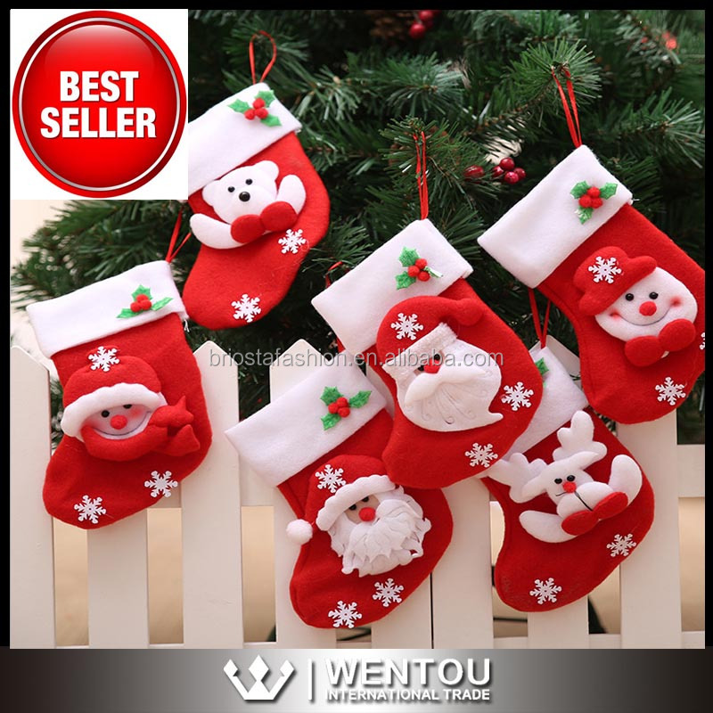 Wholesale Top Seller Stereo Santa Christmas stocking