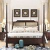 Chinese style bedroom furniture solid wood poster bed double bed