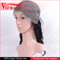 100 human front lace hair wig 26 inch virgin remy dyeable fashion top silk lace wig