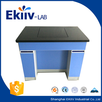 Clean Room Lab Furniture Design Marble Countertop Steel Laboratory Balance  Table