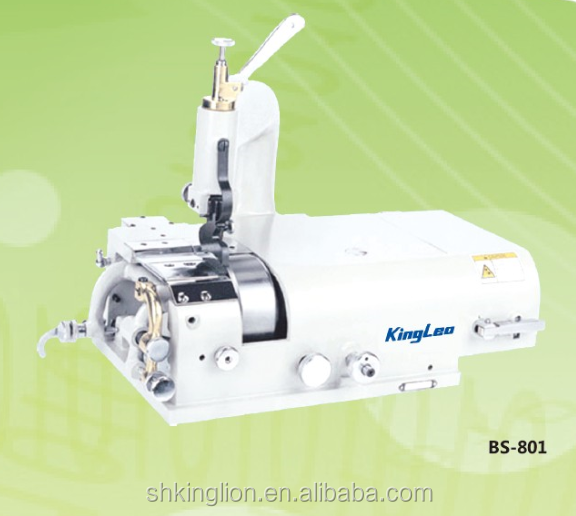 BS-801 Single Needle Leather Round Knife Skiving Cutting Industrial Sewing Machine