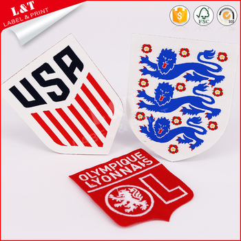 Fast Delivery Custom Made Sew On 3D T Shirt Football Embroidered Patch Custom