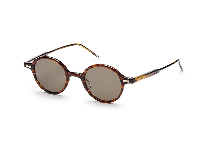 f17c5147a12 Get Quotations · THOM BROWNE TB 407 B-T-WLT Walnut w  G15-AR Sunglasses