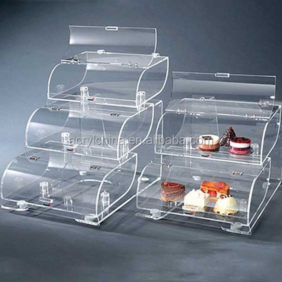 Clear Bread Boxacrylic Bread Display Standcake Box Buy Bread Box