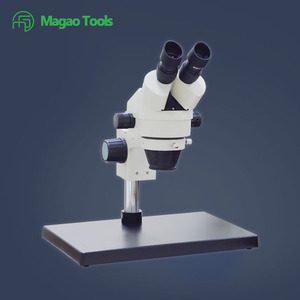 Magao MG-10E Binocular Trinocular Continuous Zoom Stereo Microscope View Head with Eyepiece