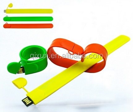 paypal accept CE FCC Rohs colorful bulk 32gb custom logo bracelet usb flash memory drive, 32gb usb flash drive
