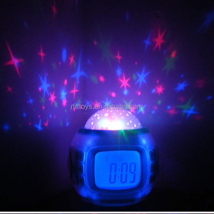 Star light digital desk proiezione talking clock musical