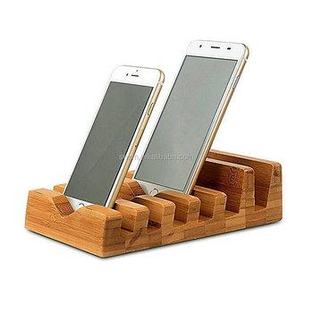 Bambu Alami Desktop Kosmetik Organizer Berdiri Dudukan Ponsel Untuk
