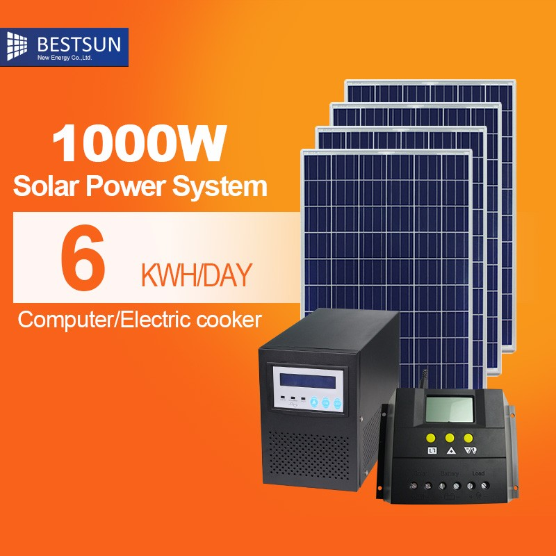 High voltage portable solar power system for family use
