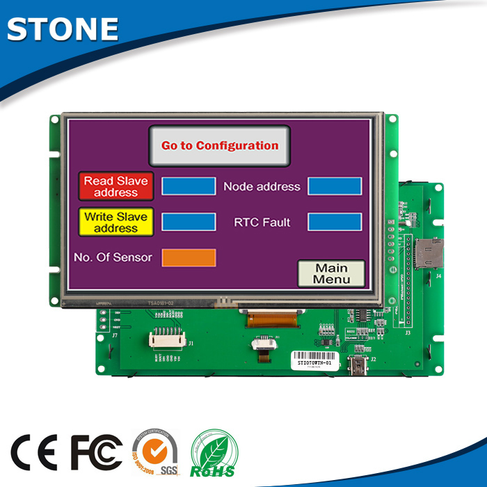 5 inch capacitive touch screen lcd panel front bezel