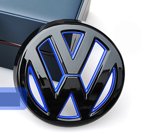 Vw Golf 1 Red Devil: Devil Style Gloss Black Blue Rear Boot Trunk Badge Emblem