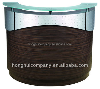 Material Customized Size Modern Beauty Salon Furniture Reception Desks Beauty Salon