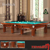 maple solid wood leg wood cushion snooker table with pool table spectator chairs