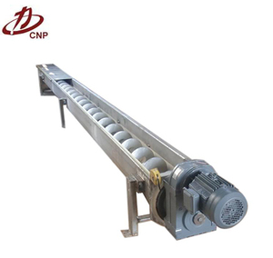 Large output chain type scraper powder screw conveyor