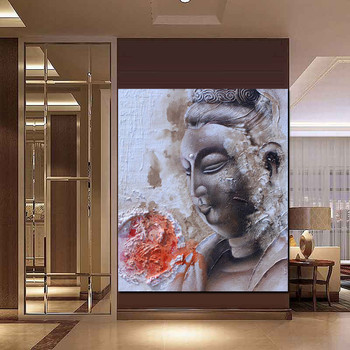 Large Size Framed Ready To Hang Realist Buddha Canvas Painting Free Sample