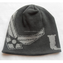 100% Acrylic Winter Beanie Hat High Quality Promotional Slouch Custom Logo Sports Caps