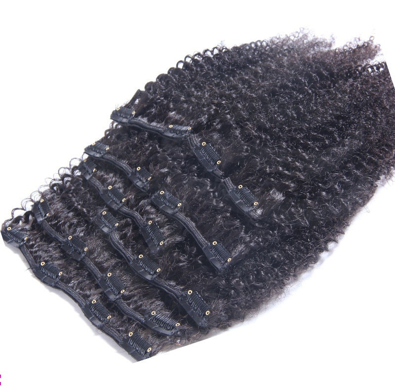 Virgin Brazilian Hair Remy Clip In Hair Extensions 120G Clip In Brazilian Hair Extensions 1B Clip In Human Hair Extension