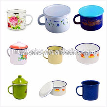 Wholesale enamel coffee cheap mug sublimation enamel mug