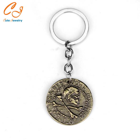 Uncharted 4 A Thief's End Metal Pendant Keyring Limited Collection Pirate Gold Coin Game Metal Model Keychain