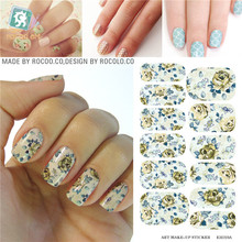 Waterproof nail stickers selling second generation move water make-up nail art decal sticker decorations-free Nail Polish KH019A