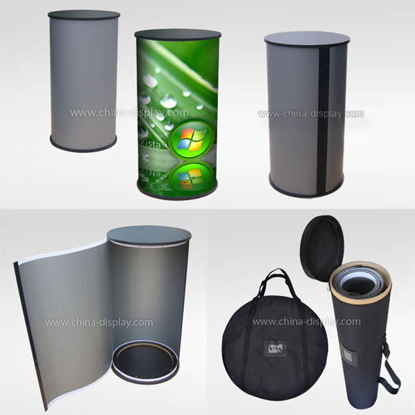 Portable Exhibition Table : Portable exhibition display counter promotion round table