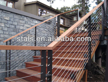 Outside Stair Cable Wire Tension Railing