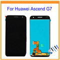 For Huawei Ascend G7 LCD Display with Touch Screen Digitizer Assembly Black White Tools Free Shipping